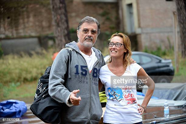 The lawyer Fabio Anselmo and Ilaria Cucchi Stefano's sister attend the Marathon at the park of the Aqueducts in memory of Stefano Cucchi the young...