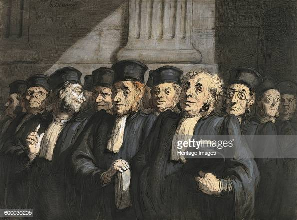 The Lawyers for the Prosecution Early 1860s Private Collection Artist Daumier Honoré