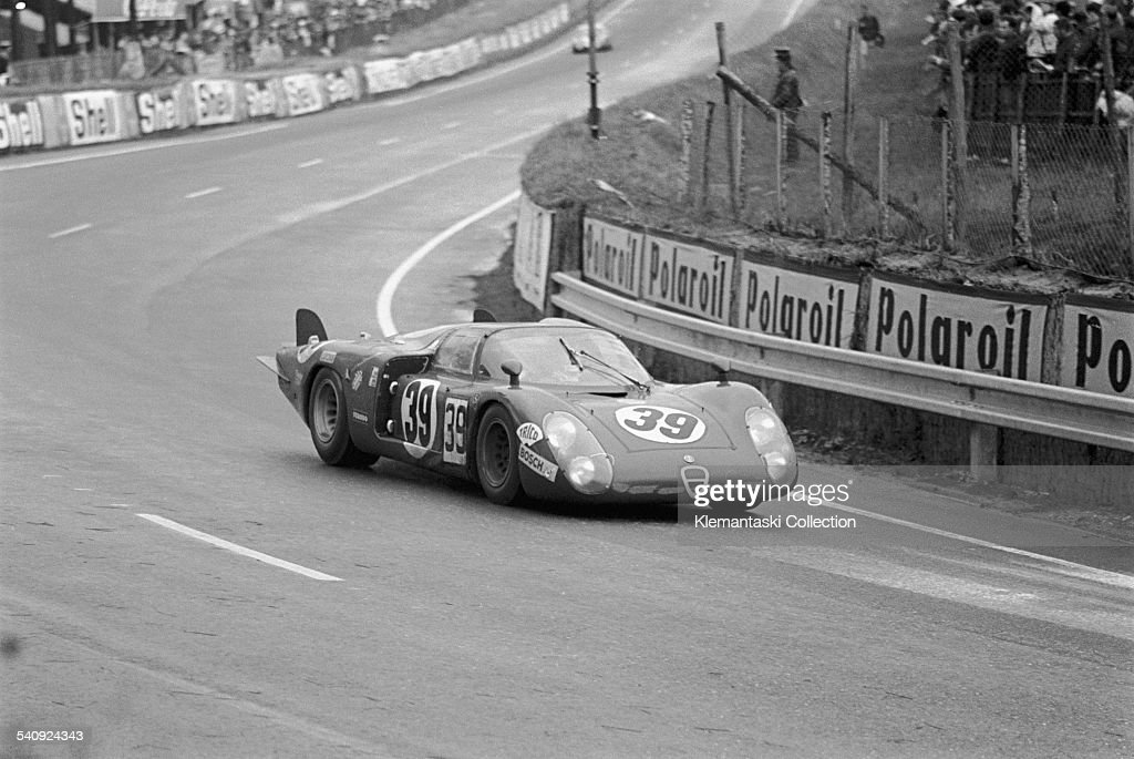 the le mans 24 hours le mans september 28 29 1968 the alfa romeo pictures getty images. Black Bedroom Furniture Sets. Home Design Ideas