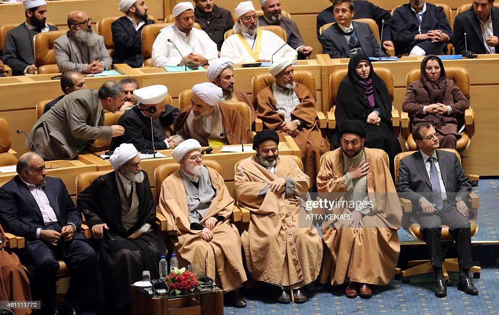 The leader of Islamic Supreme Council of Iraq Ammar alHakim attends the 28th International Islamic Unity Conference chaired by the Iranian President...