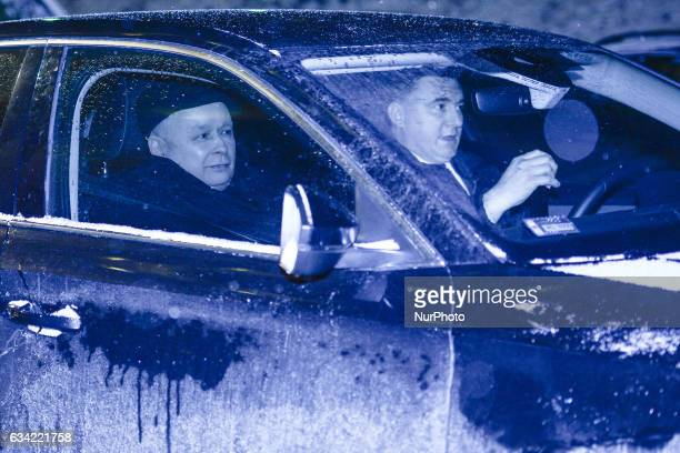 The Leader of PiS Jaroslaw Kaczynski leaves the Bristol Hotel after he met the Chancellor of Germany Angela Merkel during her visit to Poland On...