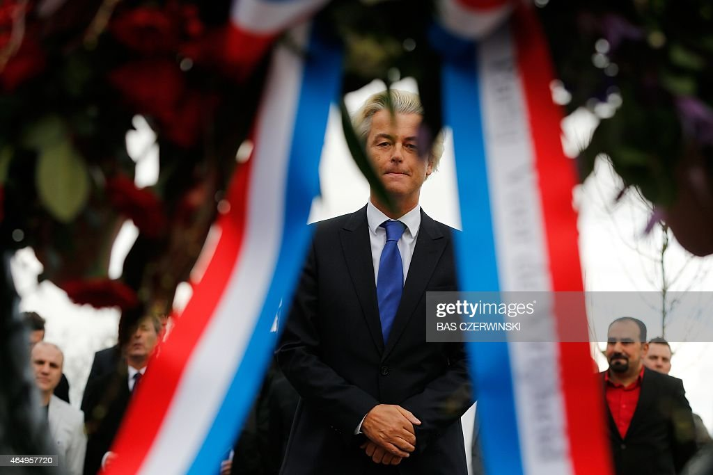 The leader of the far-right Dutch PVV-party <a gi-track='captionPersonalityLinkClicked' href=/galleries/search?phrase=Geert+Wilders&family=editorial&specificpeople=5053412 ng-click='$event.stopPropagation()'>Geert Wilders</a> reflects after laying a wreath on March 2, 2015 at the monument in remembrance of the victims of the 1915 massacre of Armenians by the Ottomans in Almelo. CZERWINSKI - netherlands out -