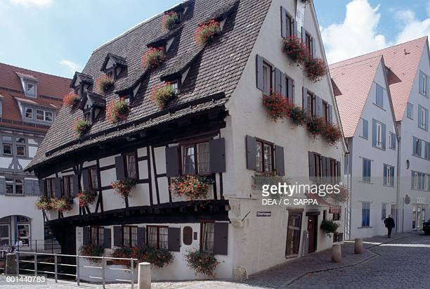 The Leaning House in the Ulm fishing district Ulm BadenWurttemberg Germany