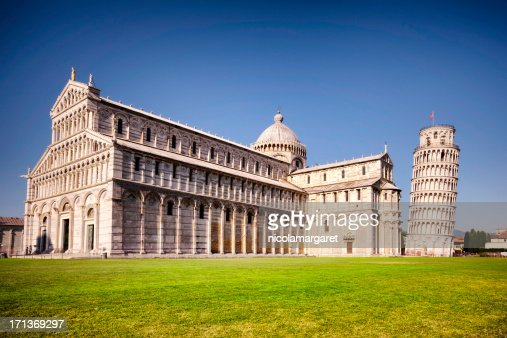 The leaning tower of Pisa and Cathedral, Italy
