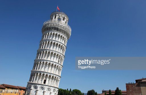 The Leaning Tower of Pisa landmark in Italy