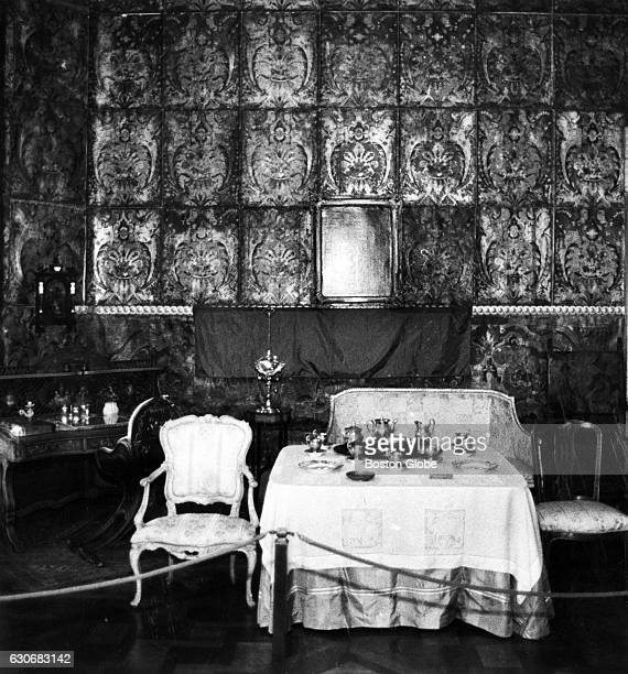 The leather panels on the wall of the Veronese Room at the Isabella Stewart Gardner Museum in Boston are in poor condition Jan 3 1989