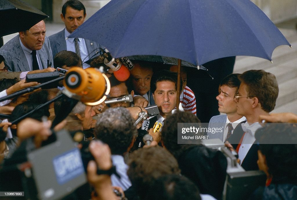 The Lebanese President <a gi-track='captionPersonalityLinkClicked' href=/galleries/search?phrase=Amin+Gemayel&family=editorial&specificpeople=707662 ng-click='$event.stopPropagation()'>Amin Gemayel</a> in Paris, France on July 25, 1983 - At Elysee.