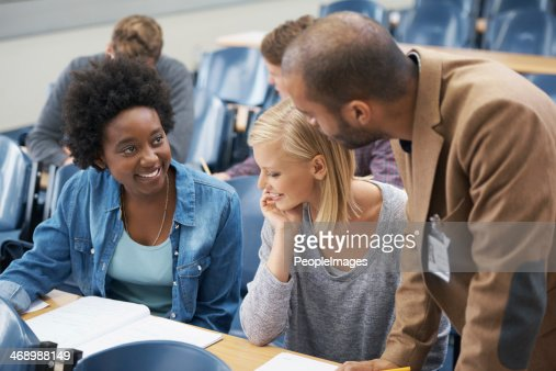 The lecturer is always on hand if you have questions
