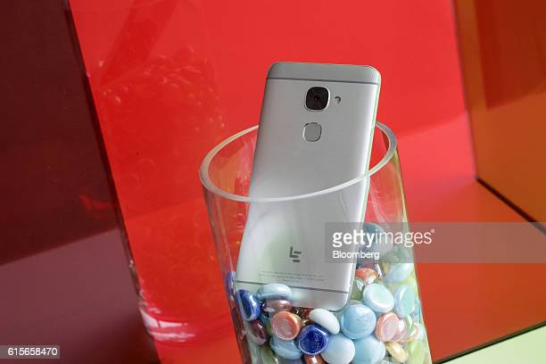 The LeEco Global Group Le S3 smartphone sits on display at the company's headquarters in San Jose California US on Thursday Oct 13 2016 LeEco is...