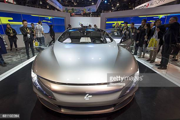 The LeEco Inc Pro concept electric vehicle is seen at the 2017 Consumer Electronics Show in Las Vegas Nevada US on Friday Jan 6 2017 CES celebrating...