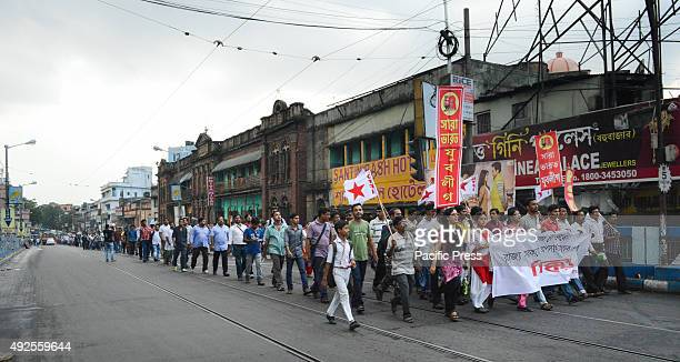 The Left Youth held a protest to demand the resignation of the Education minister of West Bengal Partha Chatterjee for lack of transparency and...