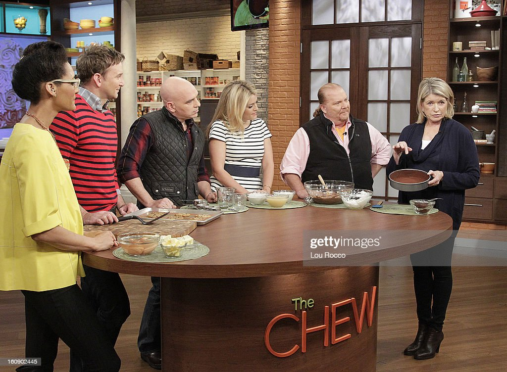 """THE CHEW - (2.5.13) The legendary Martha Stewart makes her first-ever """"Chew"""" appearance, talking about her new book, Meatless, and joins co-host Carla Hall to whip up the ultimate dessert in the Dish of the Day; co-host Michael Symon prepares a comfort food to delight every palate. 'The Chew' airs MONDAY - FRIDAY (1-2pm, ET) on the ABC Television Network. STEWART"""