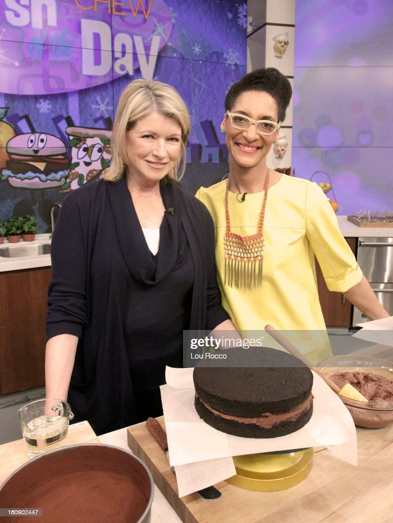 """THE CHEW - (2.5.13) The legendary Martha Stewart makes her first-ever """"Chew"""" appearance, talking about her new book, Meatless, and joins co-host Carla Hall to whip up the ultimate dessert in the Dish of the Day; co-host Michael Symon prepares a comfort food to delight every palate. 'The Chew' airs MONDAY - FRIDAY (1-2pm, ET) on the ABC Television Network. HALL"""