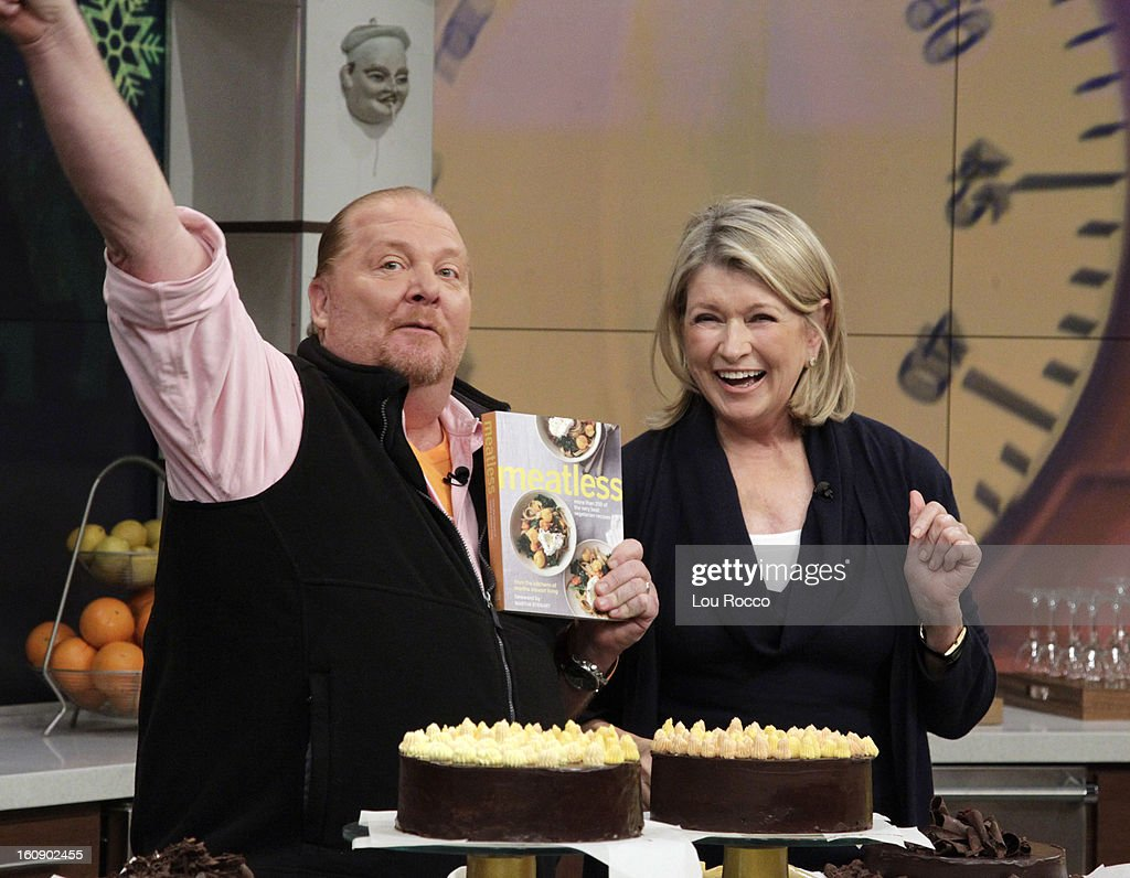 "THE CHEW - (2.5.13) The legendary Martha Stewart makes her first-ever ""Chew"" appearance, talking about her new book, Meatless, and joins co-host Carla Hall to whip up the ultimate dessert in the Dish of the Day; co-host Michael Symon prepares a comfort food to delight every palate. 'The Chew' airs MONDAY - FRIDAY (1-2pm, ET) on the ABC Television Network. STEWART"
