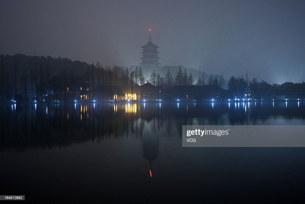 The Leifeng Pagoda is dark after the lights were switched off to recognize Earth Hour at West Lake on March 23, 2013 in Hangzhou, China. Businesses and households around the world will turn their lights off for an hour at 20:30 local time today, to celebrate Earth Hour, raise awareness about climate change and to show support for the use of renewable energy. Earth hour began in Australia in 2007 and is now celebrated in over 150 countries around the world.