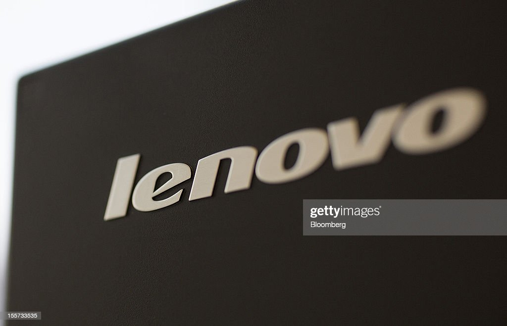The Lenovo Group Ltd. logo is displayed on a Lenovo screen arranged for a photograph in Hong Kong, China, on Wednesday, Nov. 7, 2012. Lenovo announces second quarter earnings today. Photographer: Jerome Favre/Bloomberg via Getty Images