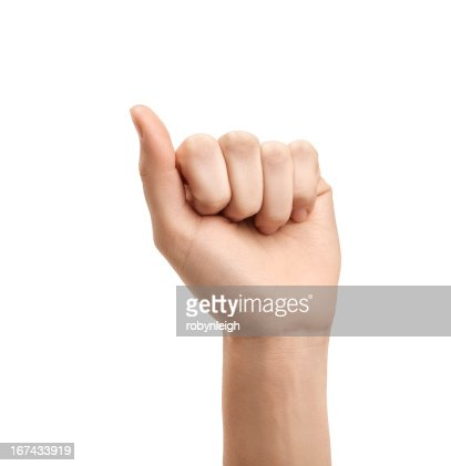 The letter A using American Sign Language : Stock Photo