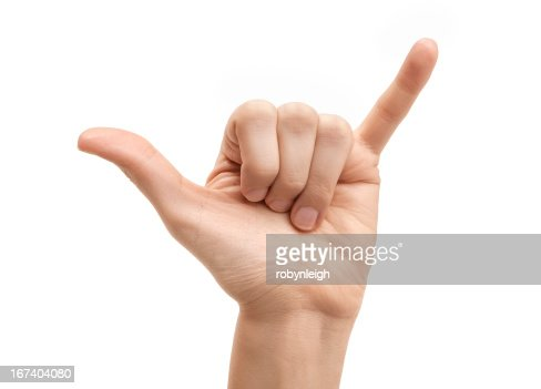 The letter Y using American Sign Language : Stock Photo