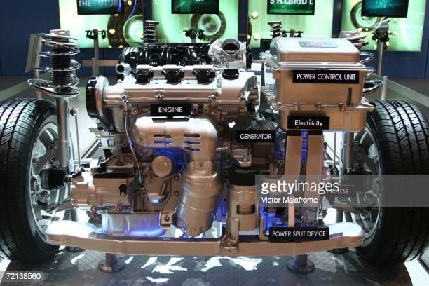 The Lexus Hybrid Engine is displayed at the 36th Annual South Florida International Auto Show at the Miami Beach Convention Center on October 10 2006...