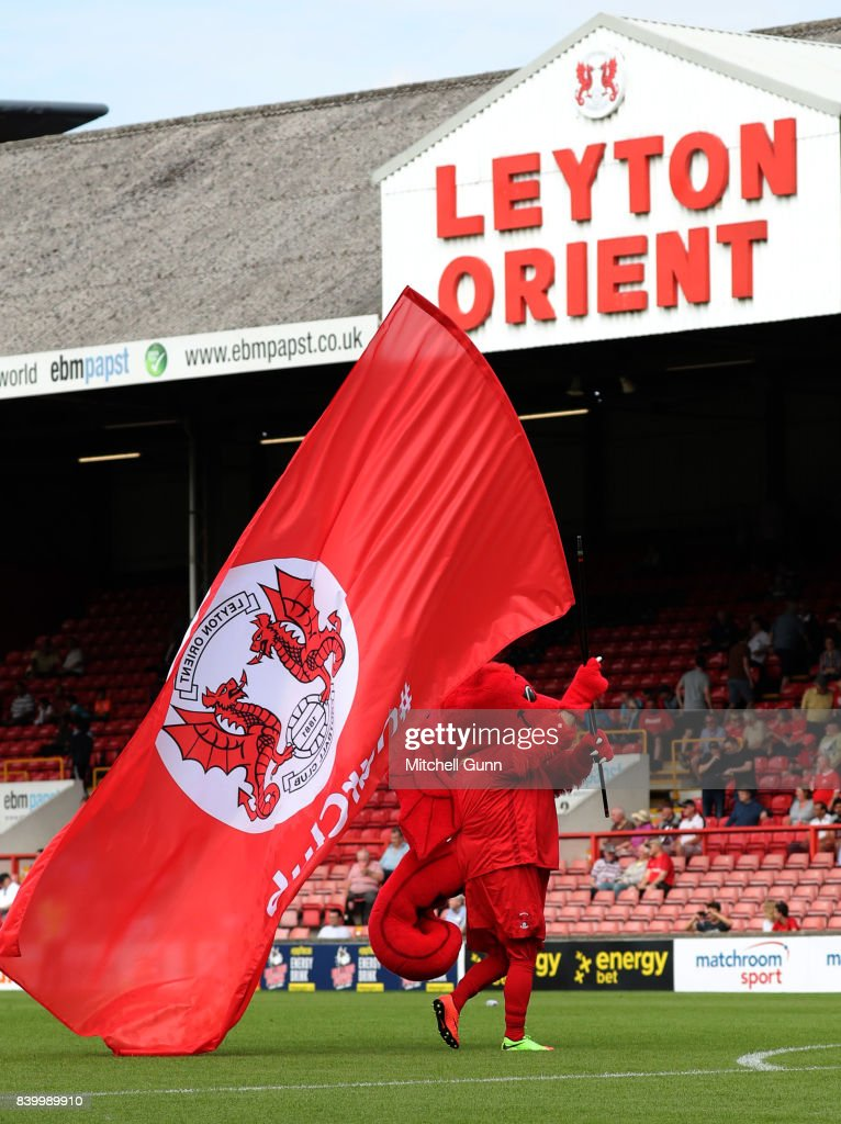 The Leyton Orient mascot during the National League match between Leyton Orient and Eastleigh at The Matchroom Stadium on August 26, 2017 in London, United Kingdom.