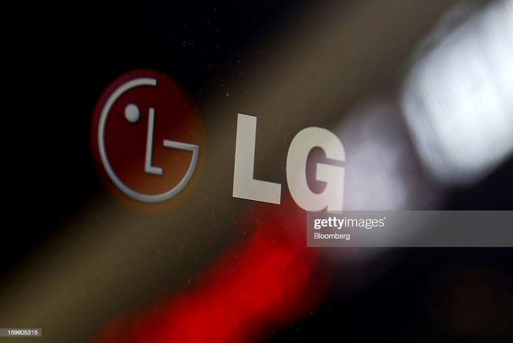 The LG Corp. logo is displayed on a computer screen at the company's flagship store in Seoul, South Korea, on Tuesday, Jan. 22, 2013. LG Display Co., the world's second-largest maker of flat panels, is scheduled to release fourth-quarter earnings on Jan. 24. Photographer: SeongJoon Cho/Bloomberg via Getty Images