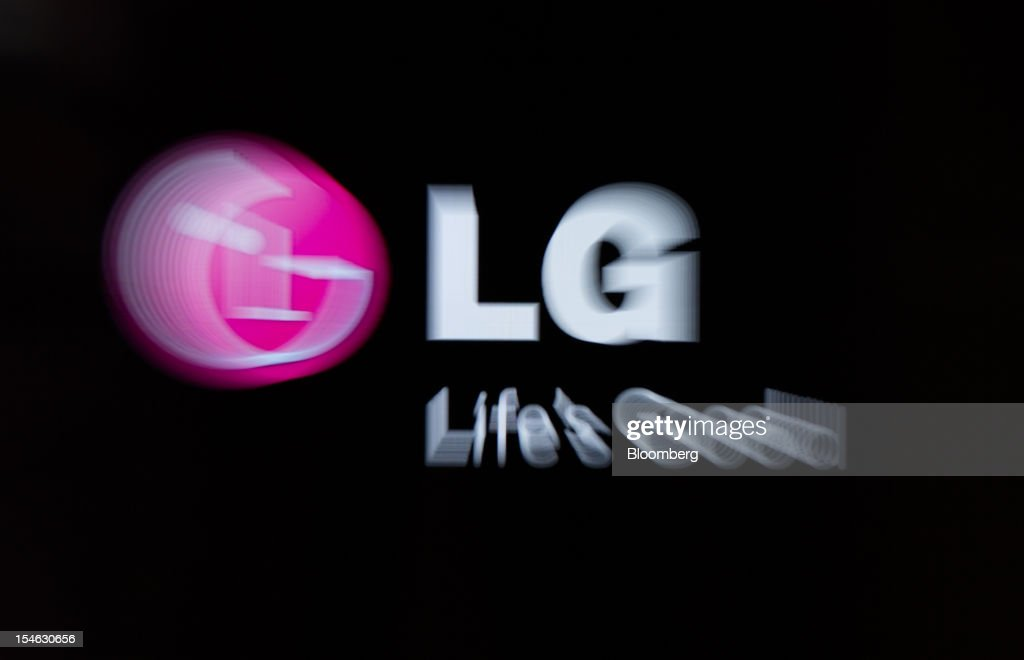 The LG Electronics Inc. logo is displayed on a television screen at the company's showroom in the COEX mall in Seoul, South Korea, on Tuesday, Oct. 23, 2012. LG is scheduled to release third-quarter earnings today. Photographer: SeongJoon Cho/Bloomberg via Getty Images
