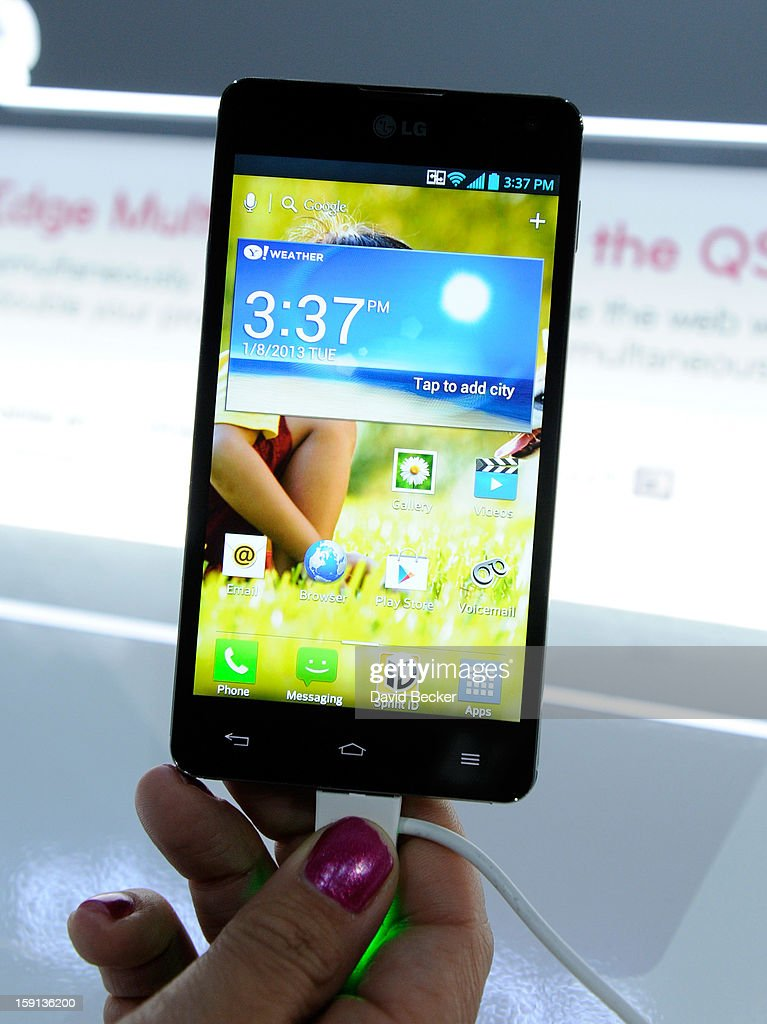 The LG Optimus G smartphone is seen at the 2013 International CES at the Las Vegas Convention Center on January 8, 2013 in Las Vegas, Nevada. CES, the world's largest annual consumer technology trade show, runs through January 11 and is expected to feature 3,100 exhibitors showing off their latest products and services to about 150,000 attendees.