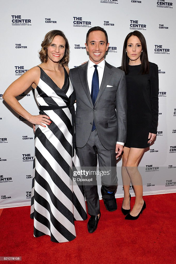 The LGBT Center of New York executive director Glennda Testone, Center board president Timothy Chow, and honoree Mary-Louise Parker attend The LGBT Center of New York's annual fundraising dinner honoring Mary-Louise Parker and BNY Mellon at Cipriani Wall Street on April 14, 2016 in New York City.