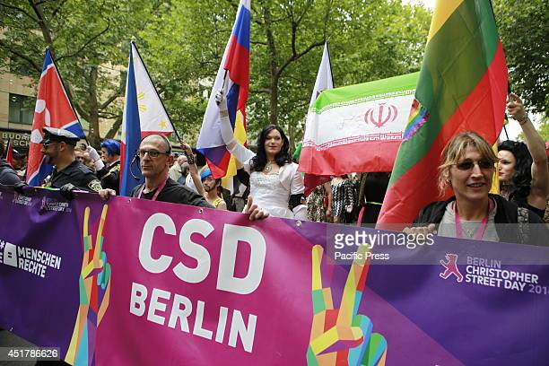 CHARLOTTENBURG BERLIN GERMANY The LGBT group proudly join in with the Christopher Street Day Parade 2014 in Berlin Berlin is an open city with a very...