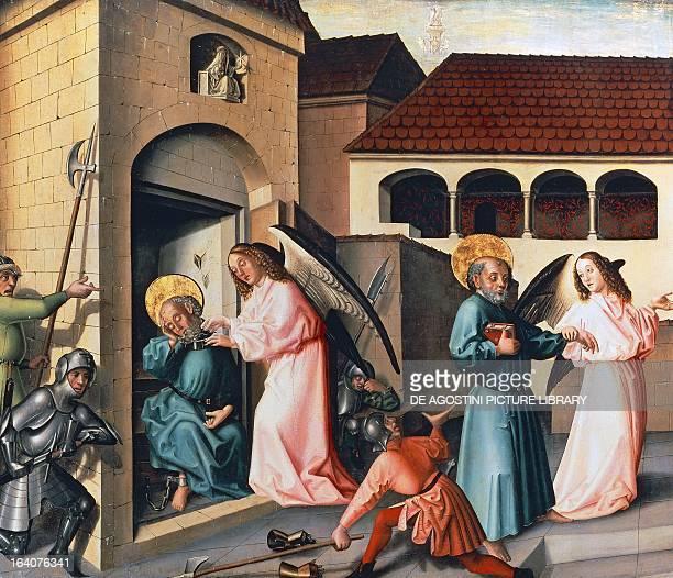 The Liberation of St Peter panel from St Peter's altarpiece by Konrad Witz tempera on panel 132x154 cm Geneva Musée D'Art Et D'Histoire