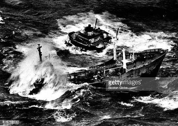 The Liberian tanker Argo Merchant sinks into Nantucket Sound after running aground and breaking up off the coast of Nantucket in December 1976 The...