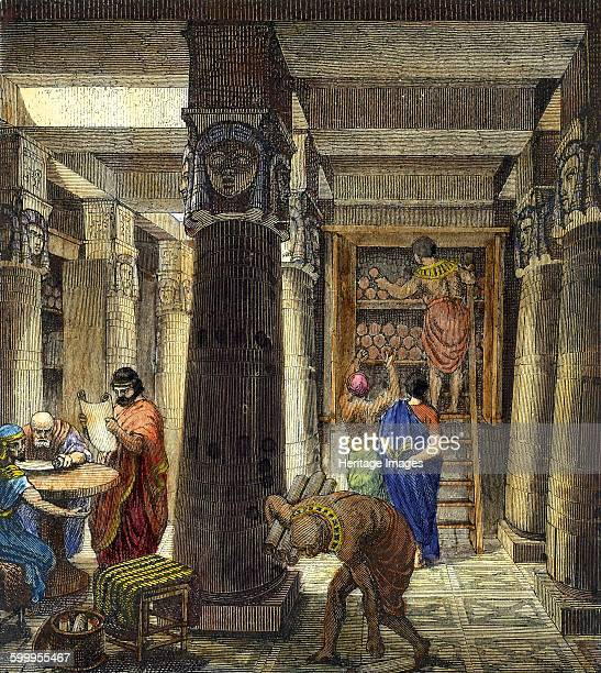 The Library of Alexandria 1876 Private Collection Artist Anonymous