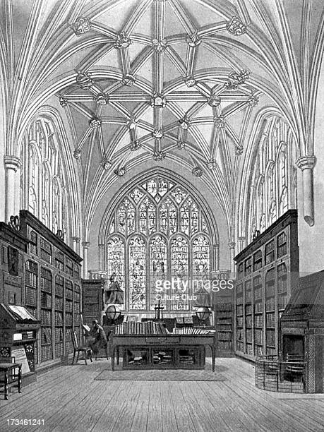 The Library of Winchester College Engraving by William Bennett after F Mackenzie c 1816