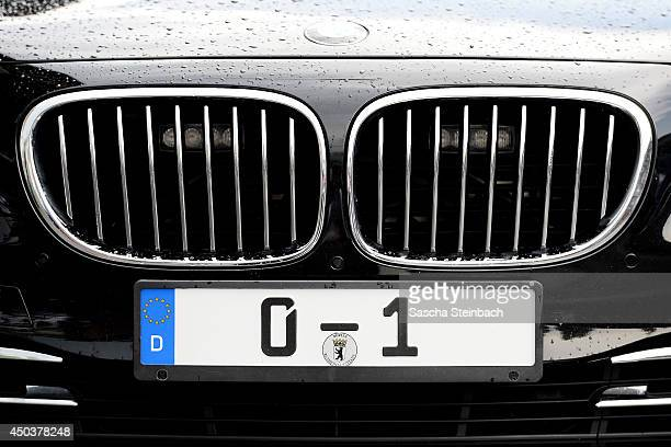 The license plate of German President Joachim Gauck's official car is seen on June 9 2014 in Cologne Germany
