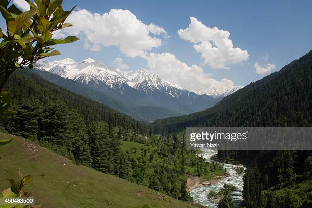 The Lidder river flows through the Aru Vally on June 12 2014 in Aru 112 Km south Srinagar the summer capital of Indian administered Kashmir India...