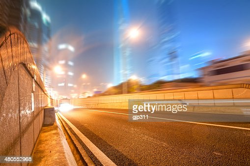 the light trails : Stock Photo
