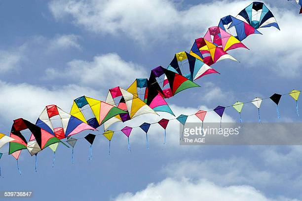 The light wind at Royal Park did not deter kite makers and flyers attempting to get their kites airborne to celebrate Melbourne's 25 year...