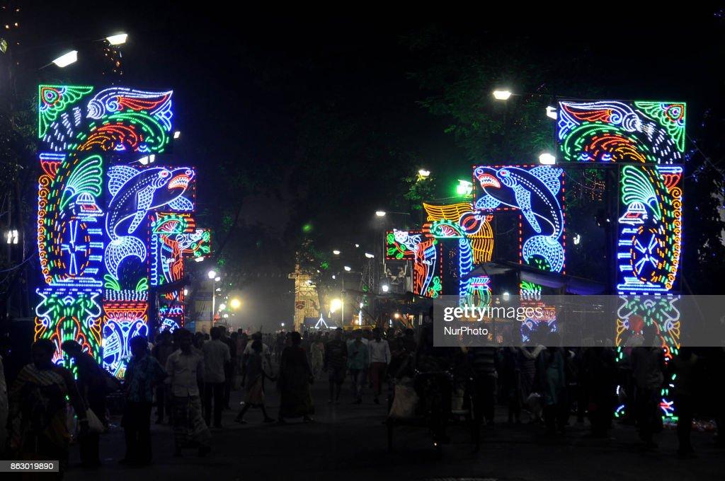 Kali Puja Pandal during Hindu festival in Kolkata
