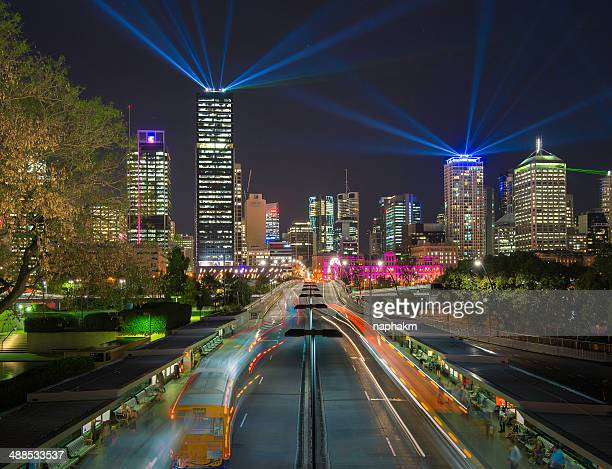 The lights of Brisbane