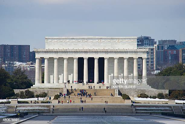 The Lincoln Memorial is seen March 26 2014 in Washington DC AFP PHOTO / Karen BLEIER