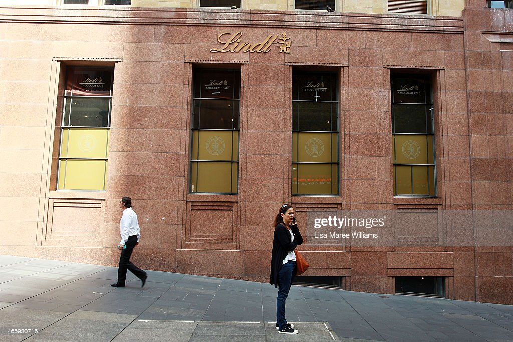 The Lindt Chocolate Cafe at Martin Place prepares to reopen as seen on March 12 2015 in Sydney Australia The cafe has been closed since December last...