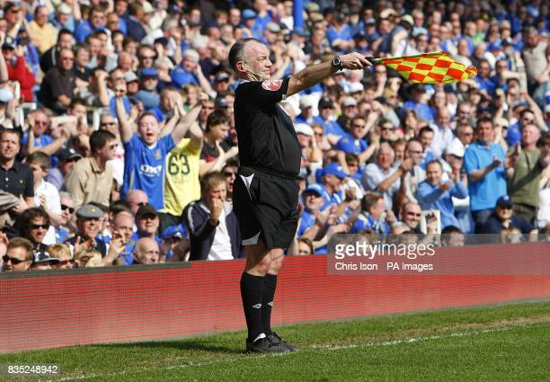 The Linesman signals offside