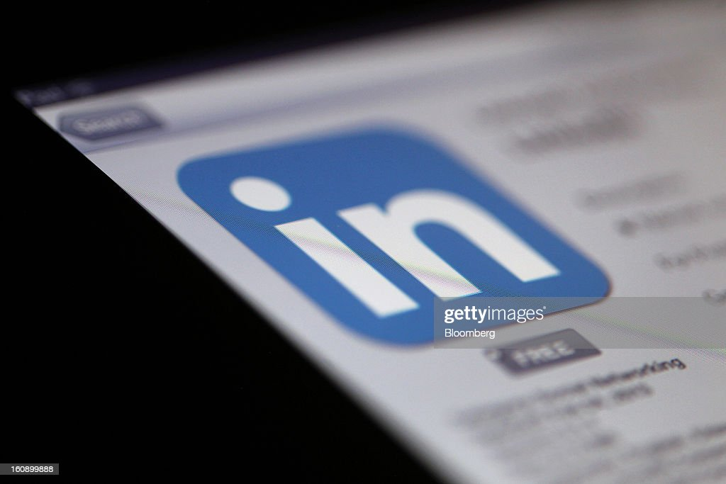 The LinkedIn Corp. app logo is displayed on an Apple Inc. iPad in Des Plaines, Illinois, U.S., on Tuesday, Feb. 5, 2013. LinkedIn Corp., the biggest online professional-networking service, reported fourth-quarter sales and profit that beat estimates as marketers bolstered spending on the website and the company added subscribers. Photographer: Tim Boyle/Bloomberg via Getty Images