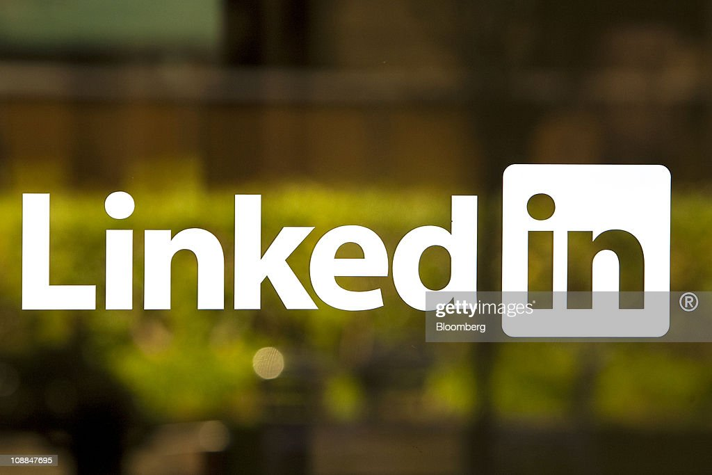 The LinkedIn Corp. logo is displayed at the entrance to company headquarters in Mountain View, California, U.S., on Thursday, Jan. 27, 2011. LinkedIn Corp., the largest networking website for professionals, said it plans to raise as much as $175 million in an initial public offering. Photographer: David Paul Morris/Bloomberg via Getty Images