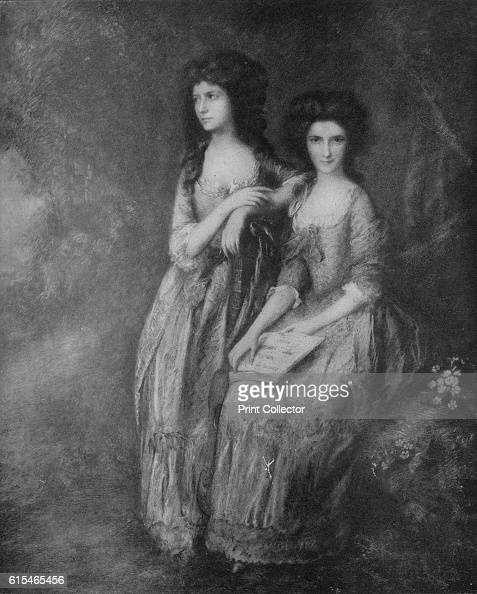 The Linley Sisters afterwards Mrs Tickell and Mrs Sheridan' c1772 A portrait of the Linley sisters Elizabeth Ann Sheridan the first daughter of the...
