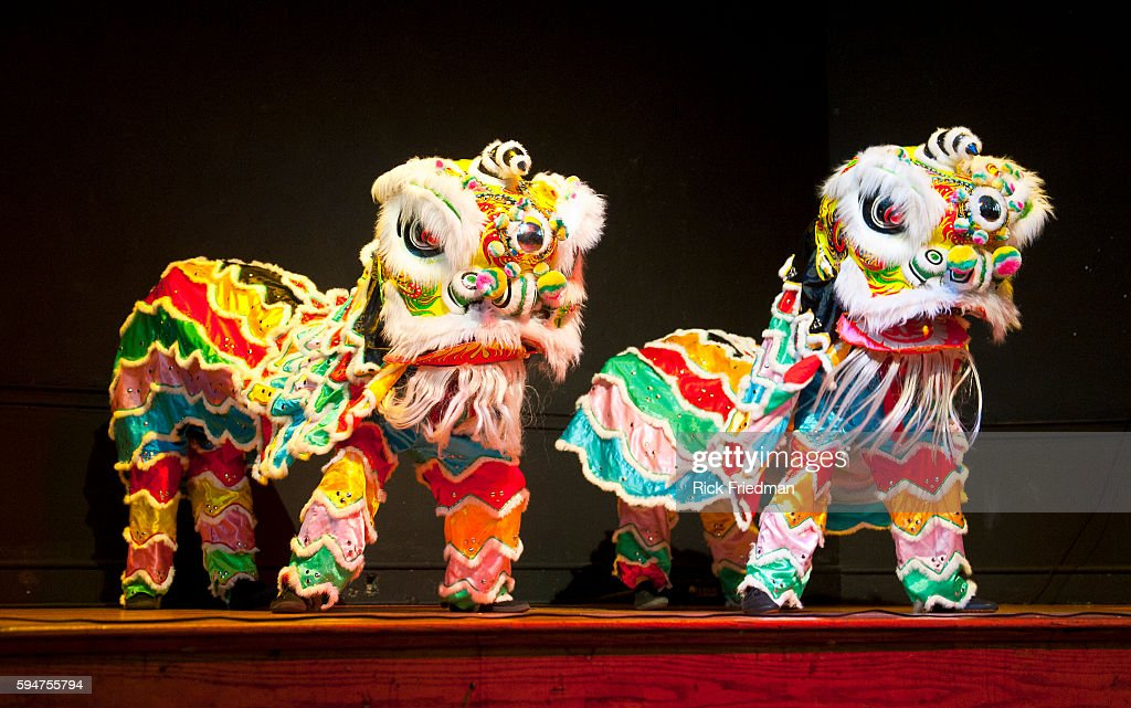 The Lion Dance performed for Chinese New Year celebration by dancers from Chinese Folk Art Workshop at the Hernandez Cultural Center in the South End...