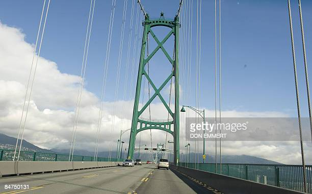 The Lions Gate Bridge February 11 2009 in Vancouver British Columbia Most Olympic spectators will cross the bridge to get from Vancouver to Cypress...