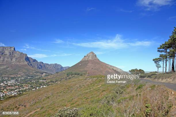 The Lion's Head and Table Mountain, Cape Town, South Africa.