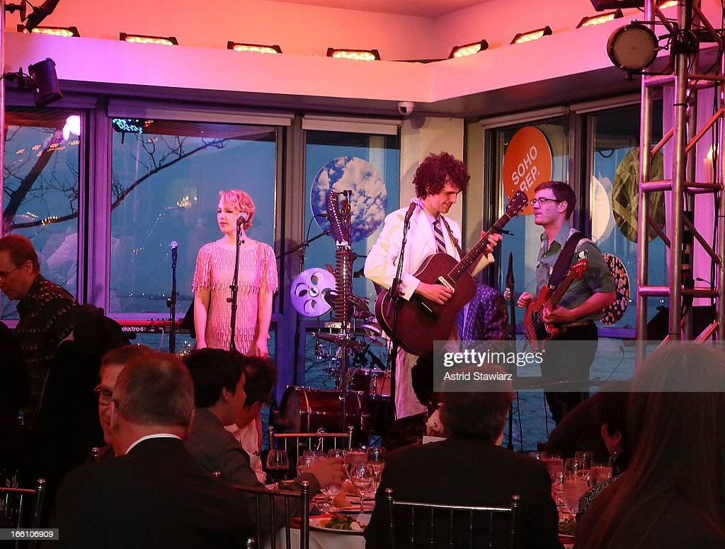 The Lisps perform during the Cocktail Reception at Soho Rep's 2013 Spring Gala on April 8, 2013 in New York, United States.