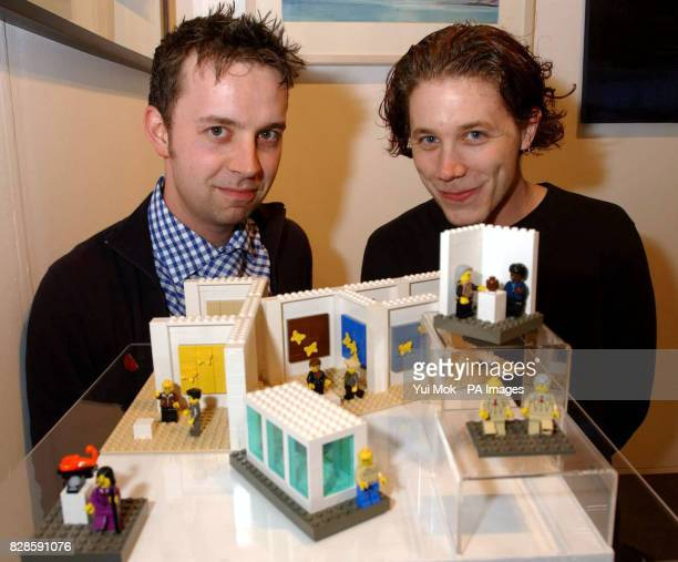 The Little Artists who have produced a miniature Lego recreation of Britart icons such as Damien Hirst Gilbert and George and Chris Ofili during the...